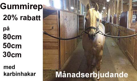 Gummirep att binda häst
