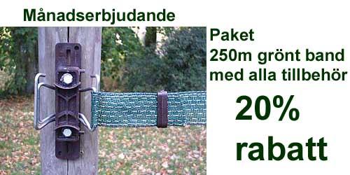 Paket grönt band